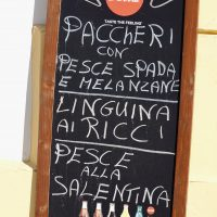 La gastronomia è una delle attrattive di Gallipoli.