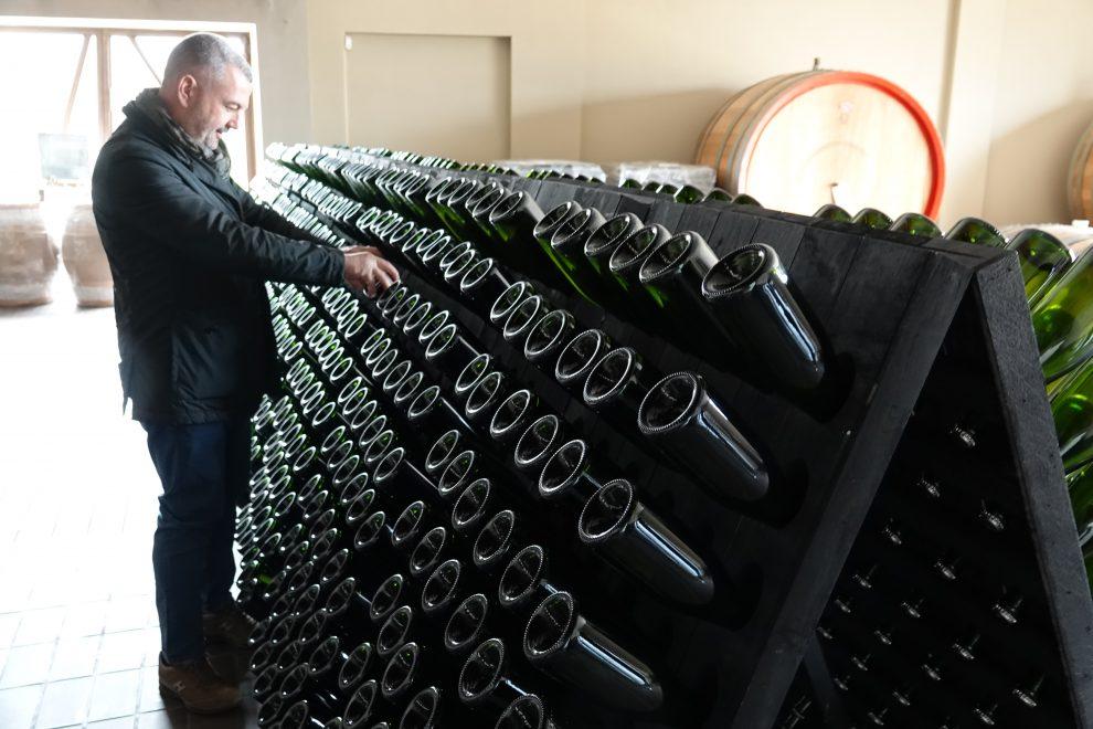 Giovanni Coppola nelle sue cantine. Il vino, un altro vanto di Gallipoli.