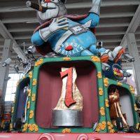 Un carro della sfilata di Carnevale.