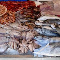 Un banco al mercato del pesce.