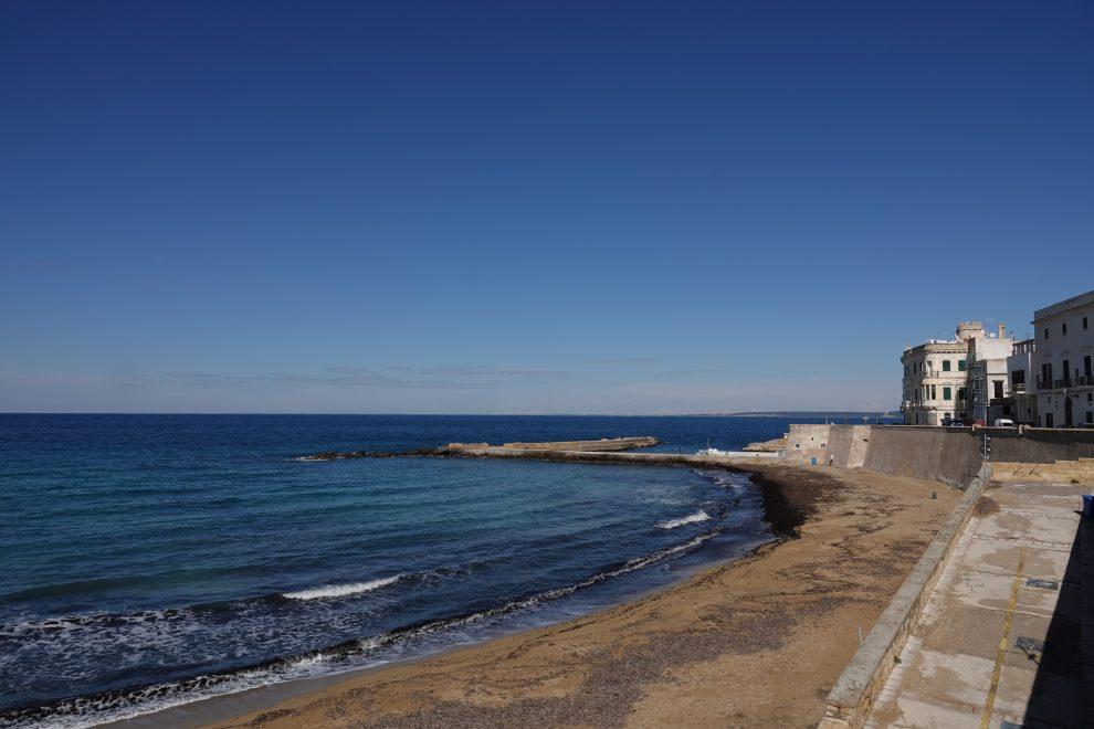 La spiaggia dei Gallipoli, Purità, fuori stagione.