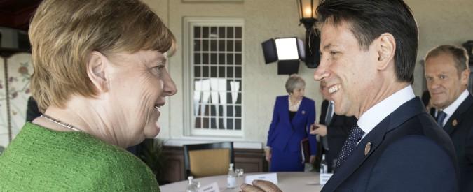"""Vertice Germania-Italia, Conte a Berlino Tra i temi migranti, eurozona e lavoro: """"Fondi Ue per il reddito di cittadinanza"""""""
