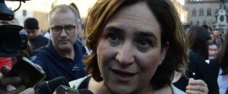 """Migranti, Colau (sindaca di Barcellona): """"La Lega non rappresenta l'Italia. L'unica crisi che c'è è quella dei valori"""""""