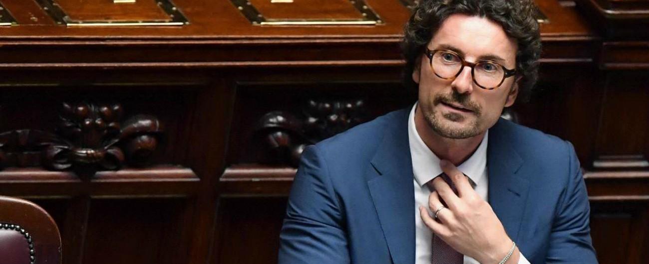 """Anas-Ferrovie, il ministro Danilo Toninelli: """"La fusione è certamente sbagliata. Fatta senza capire perché"""""""