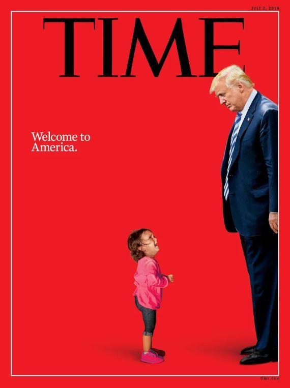 Usa, la copertina del Time su Trump e i bambini separati al