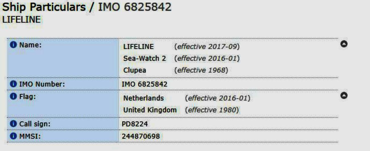 """Nave Lifeline, Olanda: """"Non viaggia con nostra bandiera"""". Ma nell'elenco ufficiale Imo risulta registrata nei Paesi Bassi"""