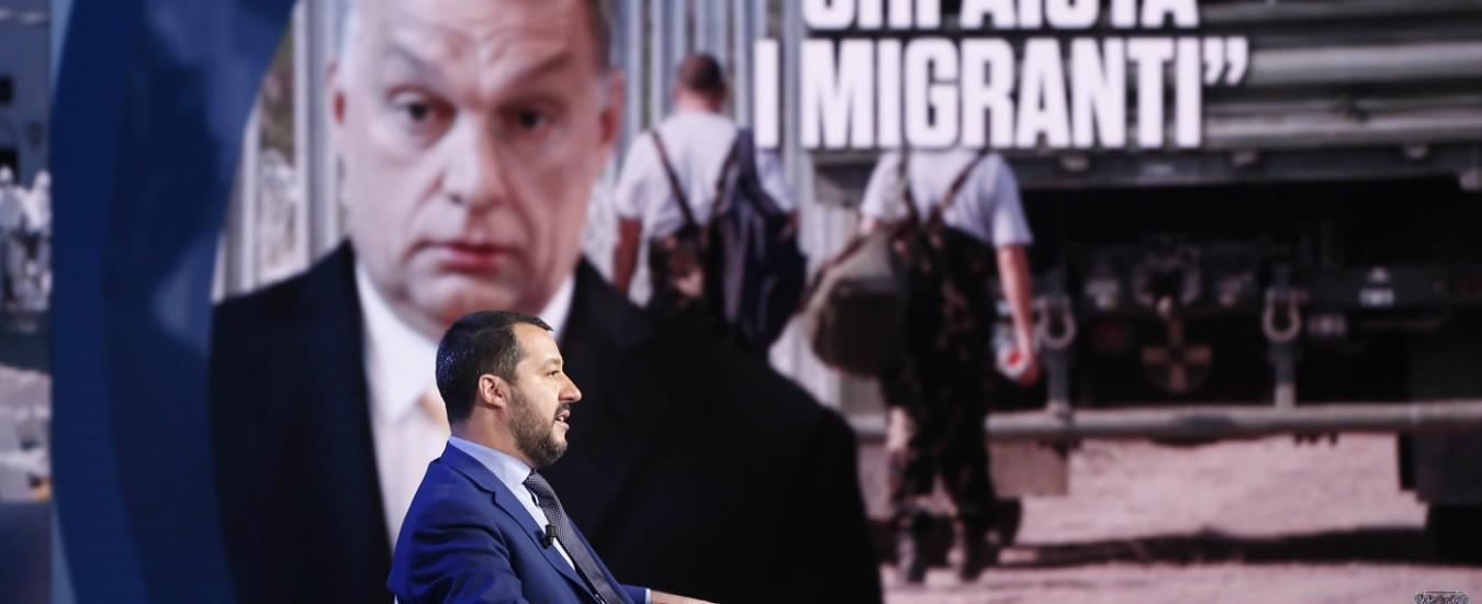 """Salvini-Orban si vedono a Milano, M5s: """"Non è un incontro istituzionale o governativo ma solo politico"""""""