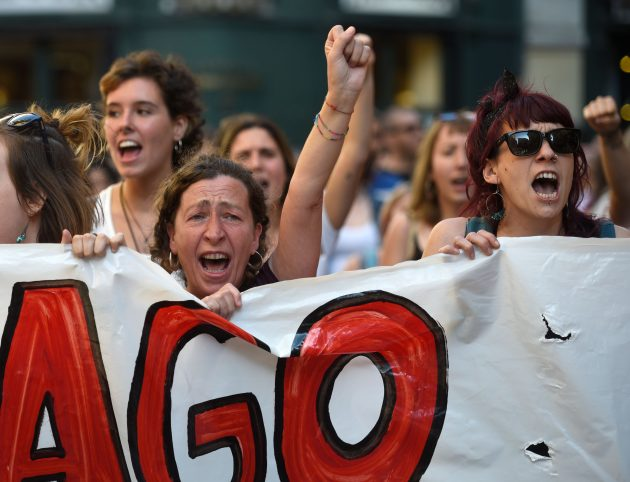 Spagna, ondata di proteste contro la liberazione del branco