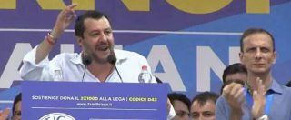 """Pontida 2018, Salvini: """"Governeremo per altri 30 anni. Non ci faranno litigare con M5s"""". Poi la stoccata ai """"rosiconi"""""""