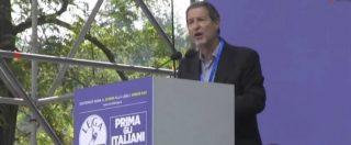 """Pontida 2018, la prima volta di un governatore siciliano al raduno leghista. Musumeci: """"Salvini unisce Nord e Sud"""""""