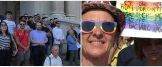 Gay Pride, a Pompei il corteo sfila davanti alla basilica: estrema destra e cittadini in preghiera per protesta