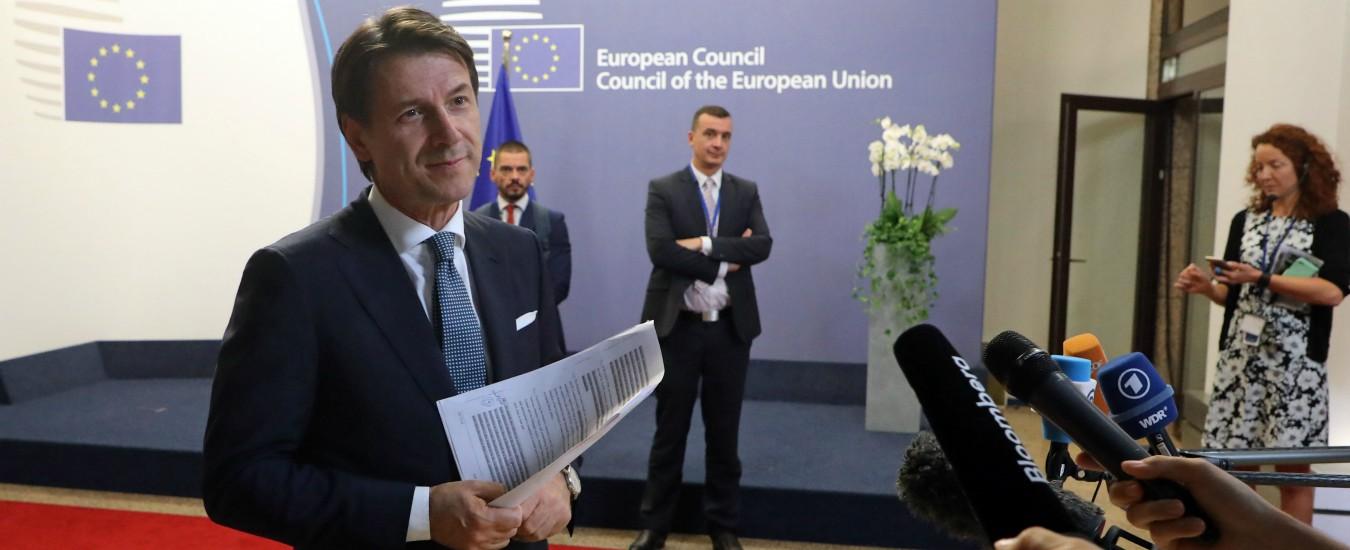 """Conte: """"Attacchi Ue contro l'Italia fatti da vecchie famiglie politiche. Per loro è il canto del cigno"""""""
