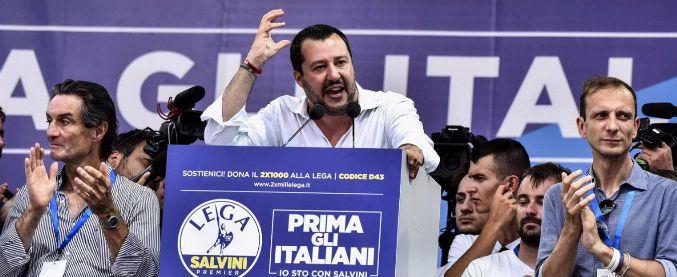 """Pontida 2018, Salvini parla alla base: """"Fatto più noi in un mese di altri in 6 anni. Così governeremo per 30 anni"""""""