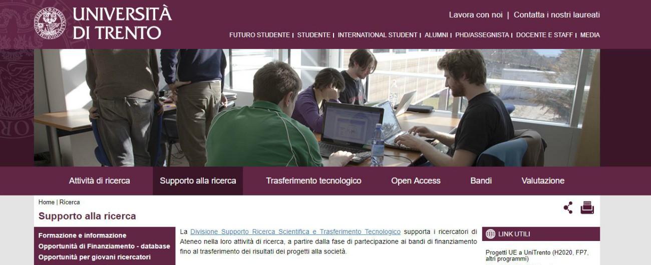 Università Trento, 17 indagati per incarichi a professionisti esterni e appalti spezzettati per dare affidamenti diretti