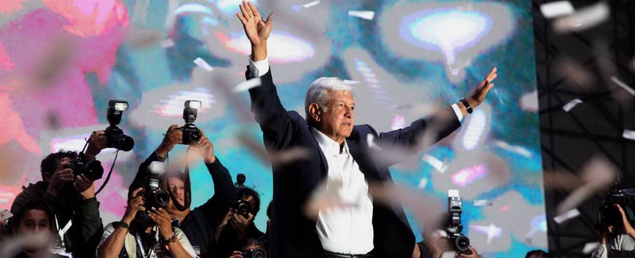 """Messico, trionfo di Lòpez Obrador: primo presidente di sinistra per il grande vicino degli Usa. Trump: """"C'è molto da fare"""""""