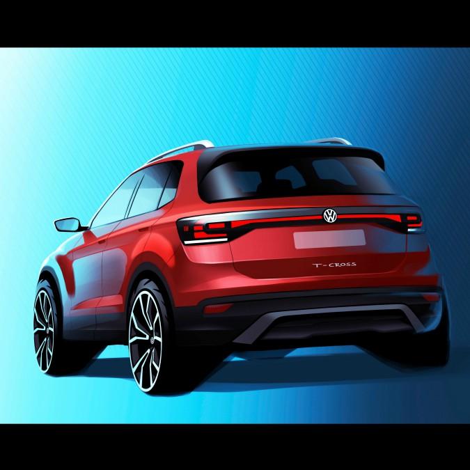 Volkswagen T-Cross, ecco la bozza del nuovo small-suv di Wolfsburg