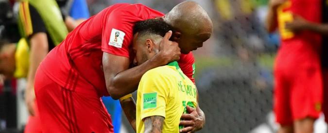 Risultati immagini per Brasile eliminato dal Belgio