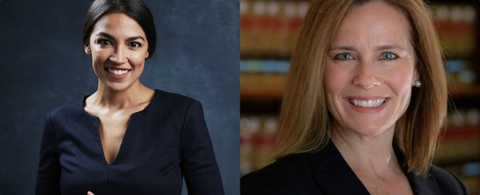 Usa, Alexandria Ocasio-Cortez e Amy Coney Barrett: donne contro nell'America di Trump