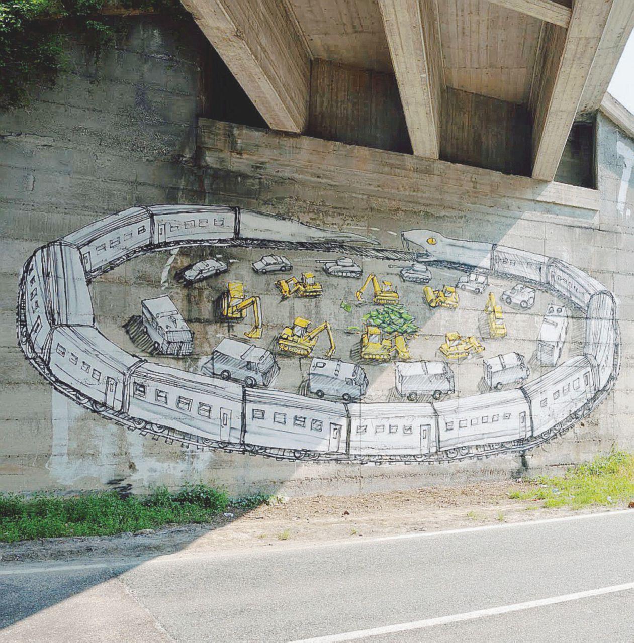 Murale No Tav: lo street artist Blu verso il processo