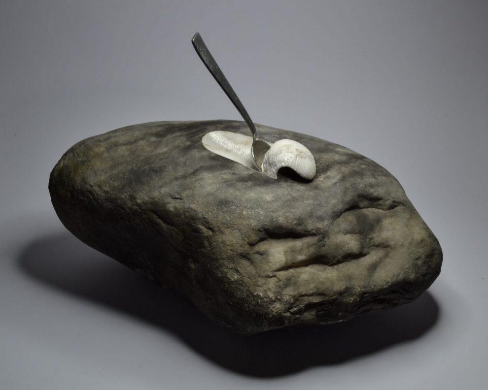 Jago – Eataly (2016) Sasso di fiume, marmo statuario cucchiaio