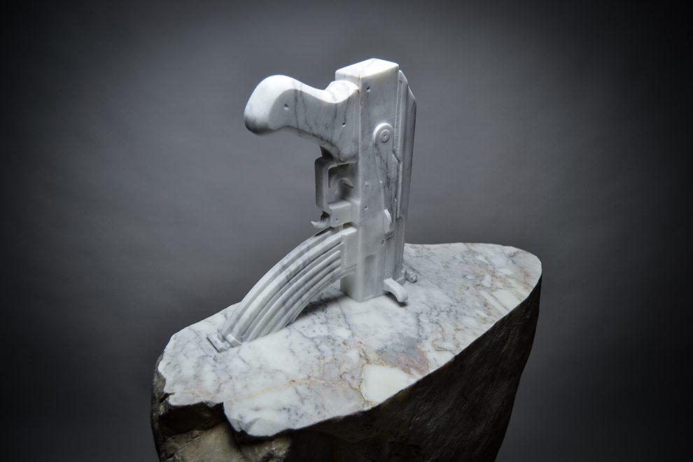 Jago – Excalibur (2016) Sasso di fiume, marmo