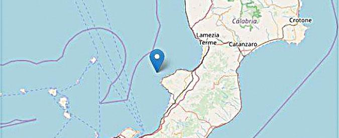 """Calabria, terremoto di magnitudo 4.4 al largo di Tropea. """"Nessun danno a cose e persone"""""""