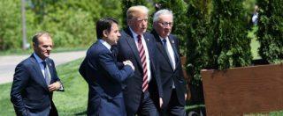 """Trump: """"Unione Europea è nostro nemico. In parte anche Russia e Cina"""". Tusk: """"Fake news. Usa e Ue sono migliori amici"""""""