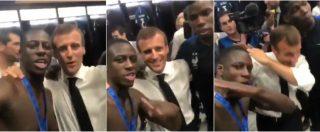 Mondiali 2018, Macron ringrazia i giocatori della Francia poi si lascia andare: dab negli spogliatoi