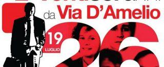 Via d'Amelio, gli eventi per l'anniversario della morte di Borsellino: Scarpinato e Lillo presentano la Repubblica delle Stragi
