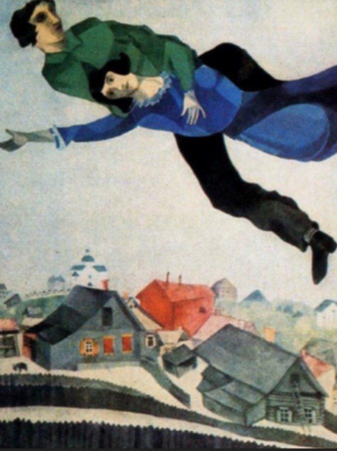 Chagall a Parigi, una storia d'amore volante (quella tra Bella e Marc, e quella di ognuno di noi)