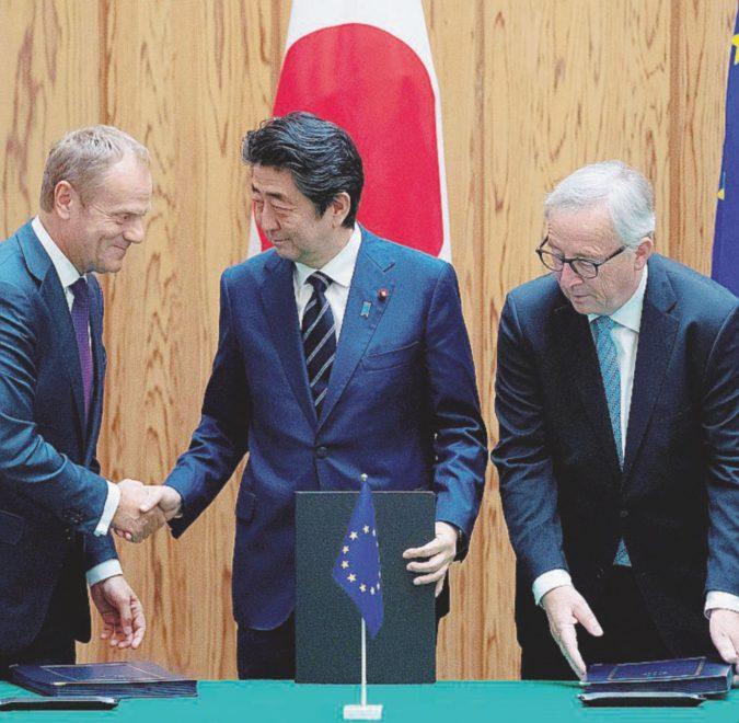 Libero scambio, firmato l'accordo col Giappone