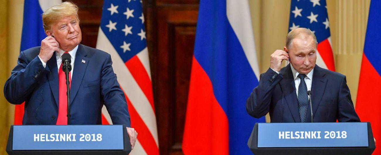 Incontro Trump Putin, gli Usa sotto choc per frasi su Russia