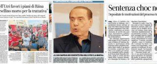 Trattativa, su molti giornali il ruolo di Berlusconi scompare dai titoli