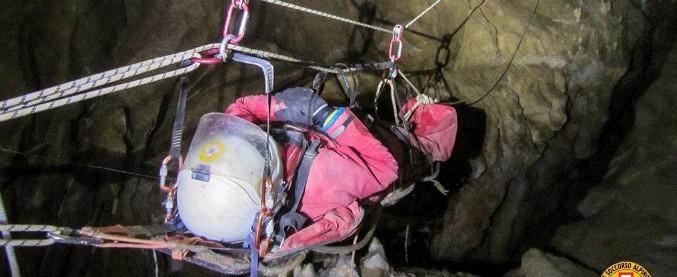 Palermo, salvata speleologa sulle Madonie: era caduta in una grotta a 100 di metri di profondità