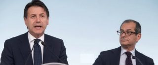 """Banche, ministro Tria: """"Attaccarle mina interesse nazionale"""". La replica di Conte: """"Nessun attacco, conserviamoci lucidi"""""""