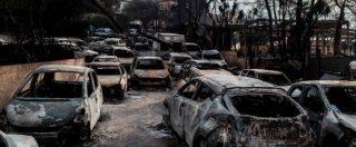"""Incendi Grecia, Atene assediata dalle fiamme: 74 morti e 556 feriti. Le autorità: """"47 roghi in sole 24 ore: l'origine è dolosa"""""""