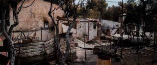 """Incendi Grecia, 85 i morti accertati ma ci sono ancora """"decine di dispersi"""". Dopo le fiamme, Atene colpita da forti piogge"""