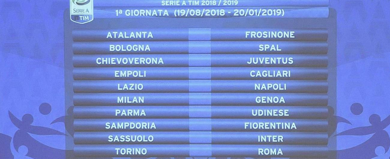 Calendario Serie A 2018/2019: Ronaldo debutta con il Chievo. Alla 7^ giornata c'è Juve-Napoli e derby Roma-Lazio, alla 9^ Inter-Milan