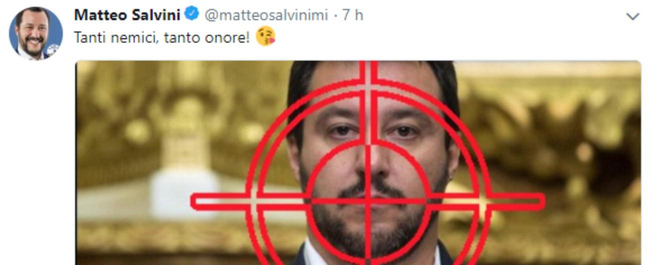 """Immigrati, Salvini: """"Razzismo? Compiono 700 reati al giorno, un terzo del totale"""". Poi twitta: """"Tanti nemici, tanto onore"""""""