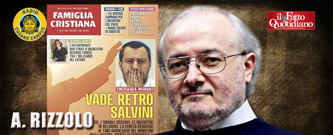 """746c759eb9 Famiglia Cristiana, direttore Don Rizzolo: """"Salvini? Mi fa piacere che si  dichiari cattolico ma nei fatti non lo dimostra"""""""
