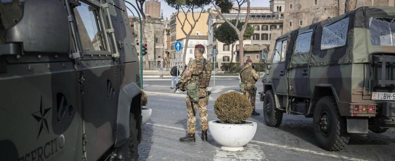 Roma, militare 25enne dell'operazione Strade Sicure suicida a Palazzo Grazioli