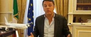 """Renzi: """"Air Force? Una delle più grandi bufale del M5s. Conte in Usa non col materassino ma con aereo di Stato"""""""