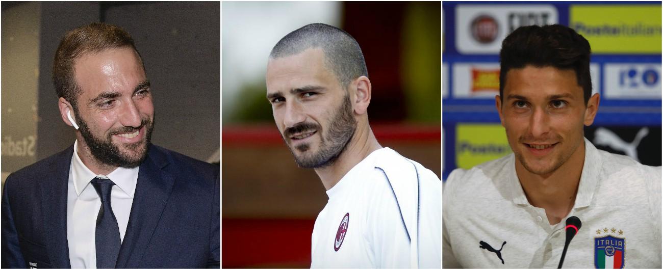 Higuain, il sì al Milan sblocca lo scambio: arriva Caldara, Bonucci torna alla Juve
