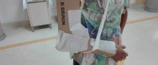 """Cartone al posto del gesso a Reggio Calabria, l'ospedale: """"Bendaggi d'emergenza? Notizia strumentalizzata"""""""