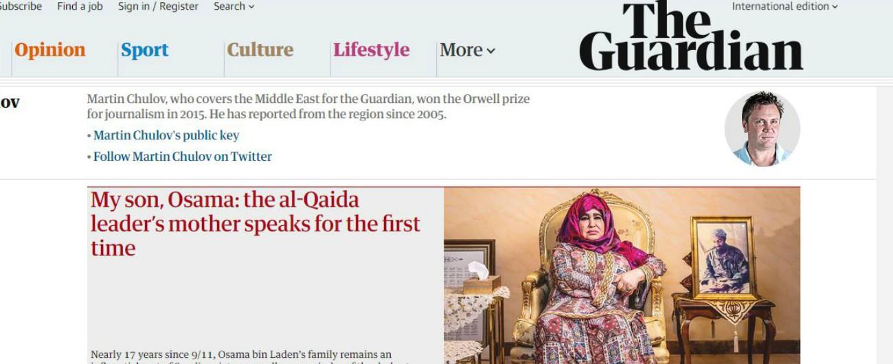 """Osama Bin Laden, la madre parla per la mia volta: """"Era un bravo ragazzo. Gli hanno fatto il lavaggio del cervello"""""""