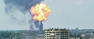 Bologna, esplosione in tangenziale: la colonna di fumo visibile a chilometri di distanza
