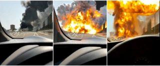 Incendio tangenziale Bologna, autocisterna tampona un tir in coda e poi esplode: un morto e 145 feriti. Crolla ponte su A14