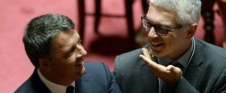 Decreto Dignità, Renzi la trottola: al Senato gira tra i banchi, saluta e si intrattiene con tutti: da Calderoli a Morra – FOTO