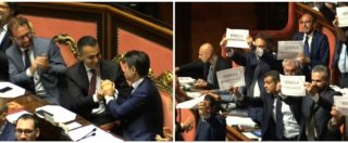 """Dl dignità è legge. Boato M5s, Di Maio e Conte esultano, Pd protesta. E Casellati ai senatori dem: """"Non siamo all'asilo"""""""