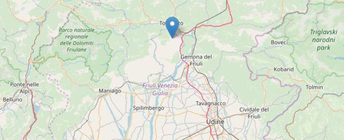 Sciame sismico in Friuli: scossa di 3.9 a Cavazzo Carnico (Udine). Non sono segnalati danni
